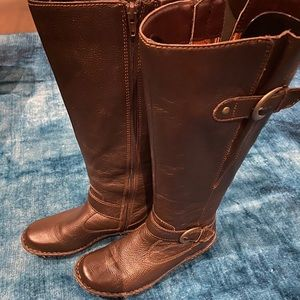 B.O.C Brown Leather Riding Boots for Women